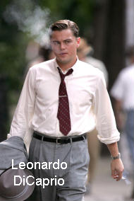 Actor Leonardo DiCaprio smoking