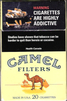 Canadian governement's nicotine addiction warning label since 2000.  There is no U.S. addiciton warning label.