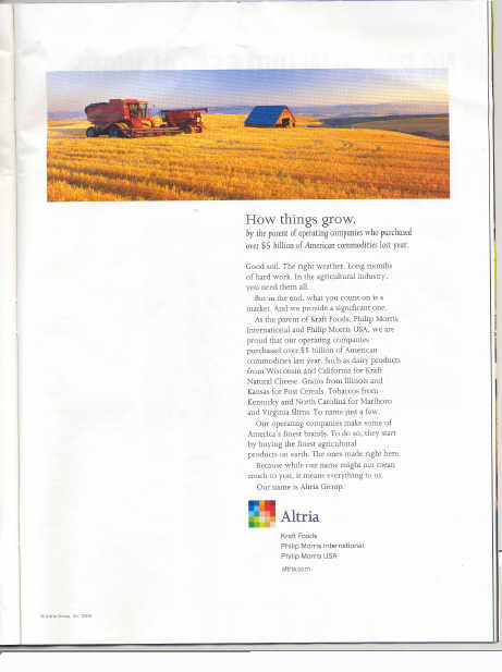 Altria U.S. News advertisement of October 18, 2004, page 59
