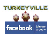 Turkeyville logo for WhyQuit's cold turkey quit smoking group