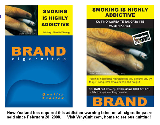Plain cigarettes Lucky Strike packs Australia