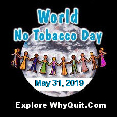 WhyQuit's World No Tobacco Day 2019 logo