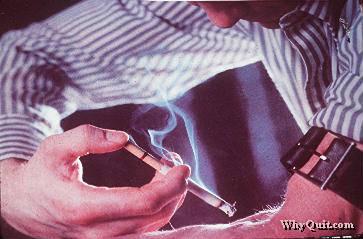 Nicotine addict injecting nicotine into their bloodstream