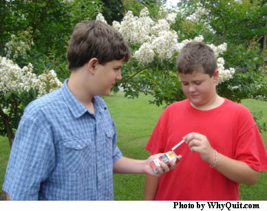 Brothers are not being taught the power of a puff.
