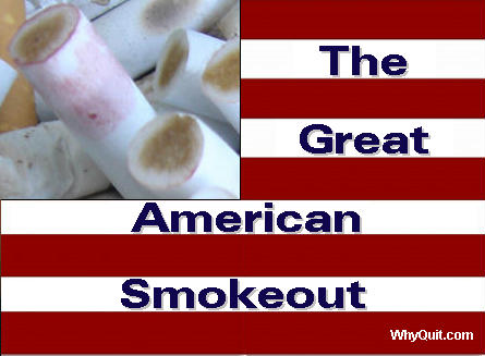 The 35th Great American Smokeout (GASO) on Thurdsay, November 19, 2015 - Watch free video quit smoking clips