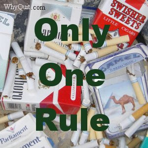 Looking for the key quit smoking tip?  There was always only one rule, no nicotine today!