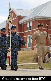 Recruit Training Command Great Lakes, a tobacco free campus.