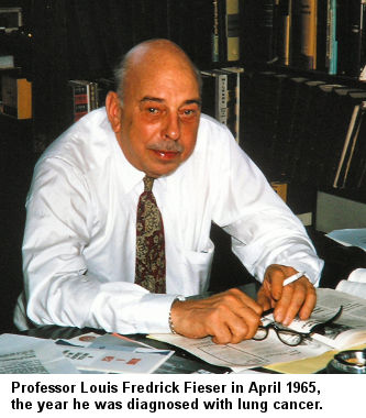 Professor Louis Fieser in 1964, the year he was diagnosed with lung cancer