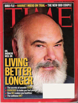 A scan of the cover of the October 17, 2005 issue of TIME magazine entitled Living Better Longer