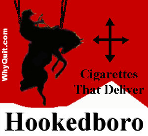 Hookedboro spoof suggesting the addictiveness of Philip Morris International's best selling brand is Marlboro