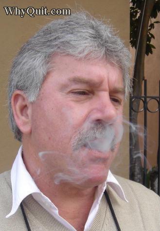 Charleston, SC smoker inhaling smoke on March 3, 2007
