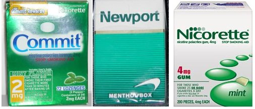 Both Pfizer and GlaxoSmithKline NRT products rely heavily upon menthol.