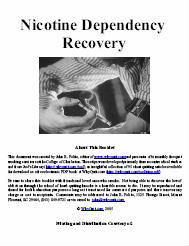 The cover of Nicotine Dependency Recovery