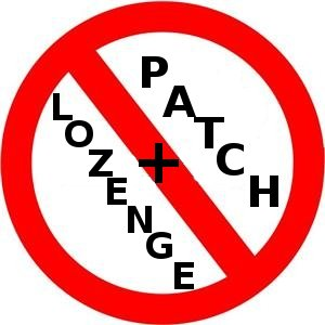 No nicotine lozenge plus patch