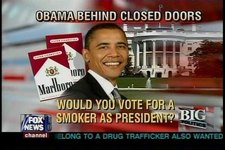 Fox News story on Senator Barack smoking