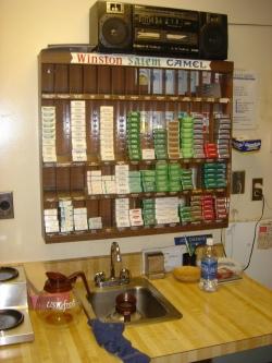 Cigarette sales location inside the SC capital complex