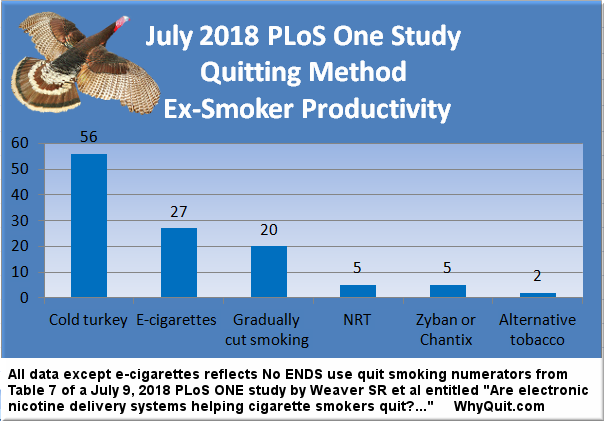 July 2018 PLoS One quit smoking method productivity chart