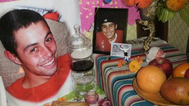 Quentin's altar for Dia de los Muertos 2010