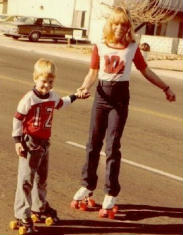 Deborah at age 11 or 12 with her younger brother David