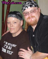 Deborah with her younger brother David in June 2007