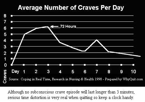 Average number of craves per day